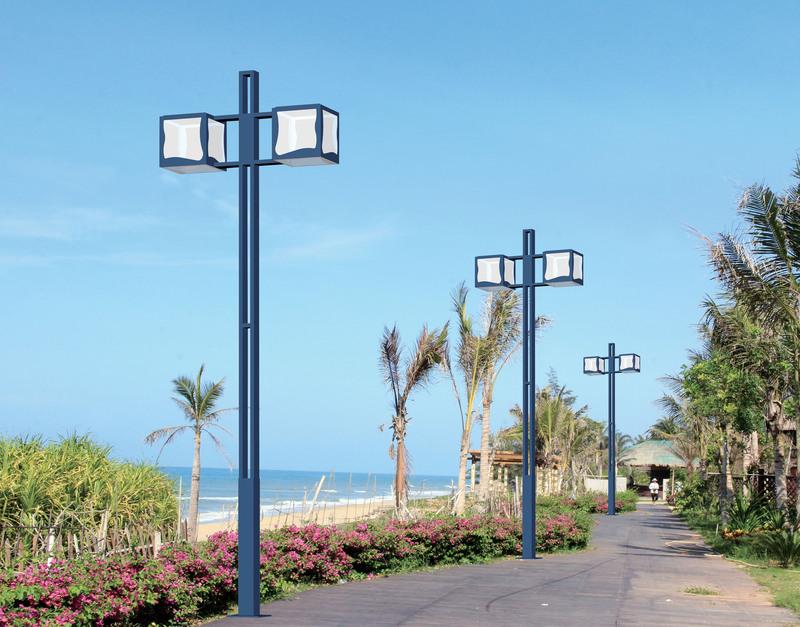 雙頭方形簡約款庭院燈--.jpg