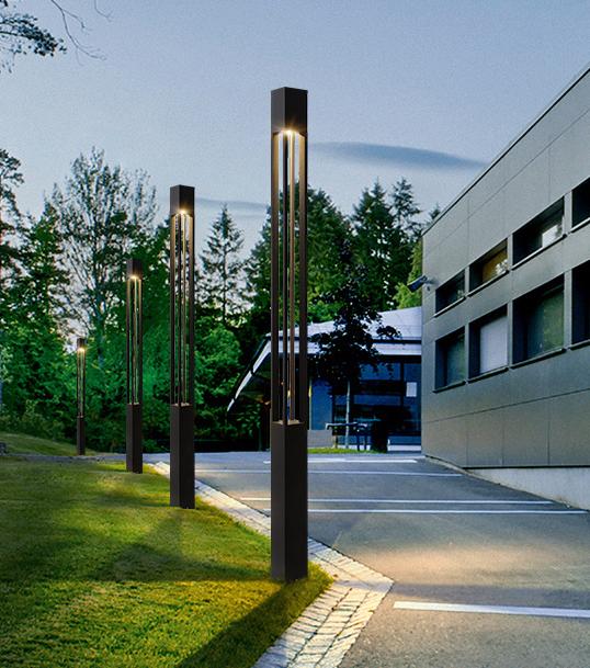 LED现代方形简约款庭院灯