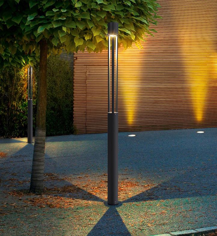 LED现代圆形简约款庭院灯